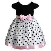 Youngland Polka-Dot Organza Dress - Baby Girl