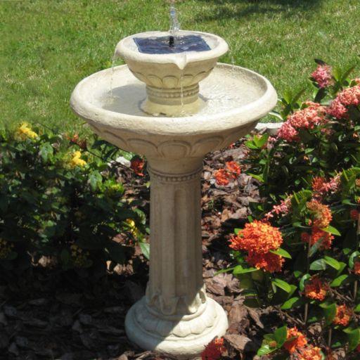 Smart Solar Kensington Gardens Two-Tier Solar On Demand Fountain