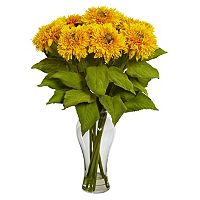 nearly natural Sunflower Floral Arrangement