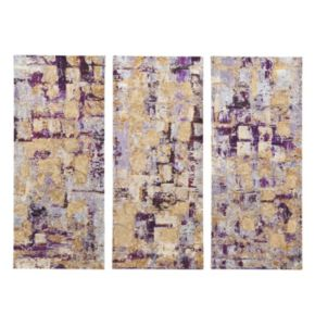 Madison Park 3-piece ''Glided Violet'' Canvas Wall Art Set