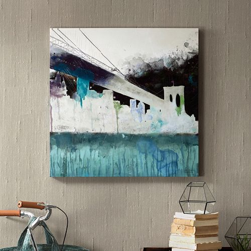 INK+IVY ''Abstracted City'' Canvas Wall Art