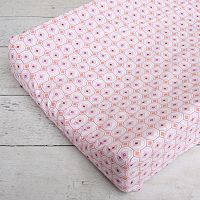 Caden Lane Pink Octagon Changing Pad Cover