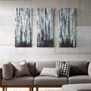 Madison Park 3 pc ''Birch Forest'' Canvas Wall Art Set