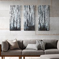 Madison Park 3 pc ''Birch Forest'' Canvas Wall Art Set