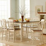 HomeVance Kaycee 7 pc Extendable Counter Height Dining Set