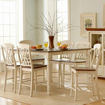 HomeVance Kaycee 7-piece Extendable Counter Height Dining Set