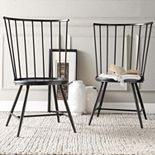 HomeVance Emmet 2-piece High Back Windsor Chair Set