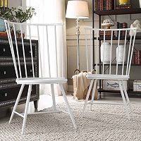 HomeVance Emmet 2 pc High Back Windsor Chair Set