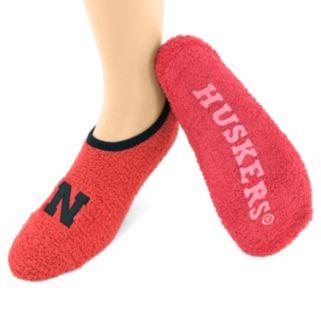 Nebraska Cornhuskers Chenille Slipper Socks - Women's