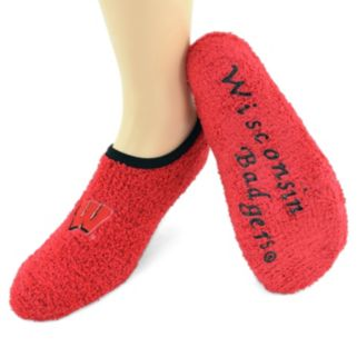 Wisconsin Badgers Chenille Women's Slipper Socks