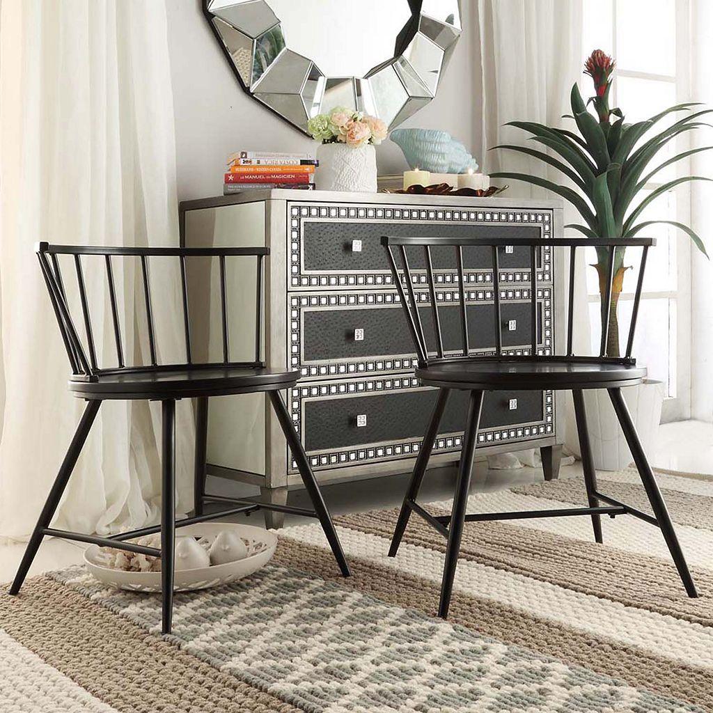 HomeVance Emmet 2-piece Low Back Windsor Chair Set