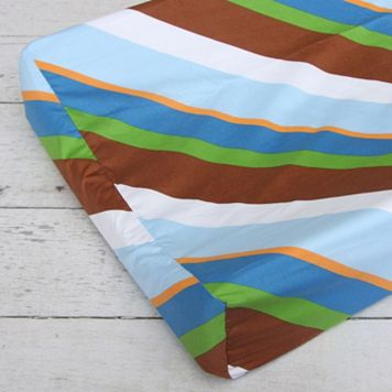 Caden Lane Diagonal Stripe Changing Pad Cover