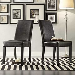 HomeVance 2 pc Jansen Parson Chair Set