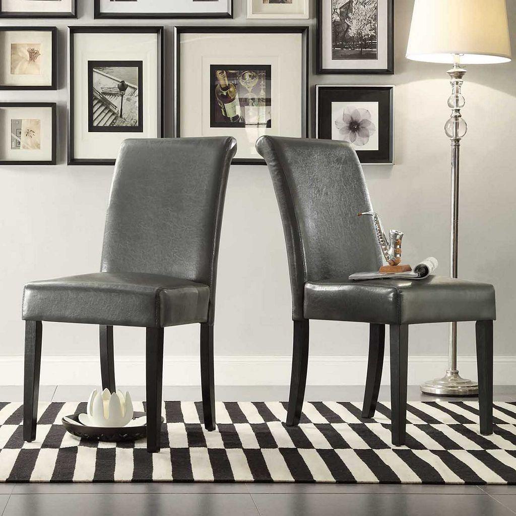 HomeVance 2-piece Jansen Parson Chair Set