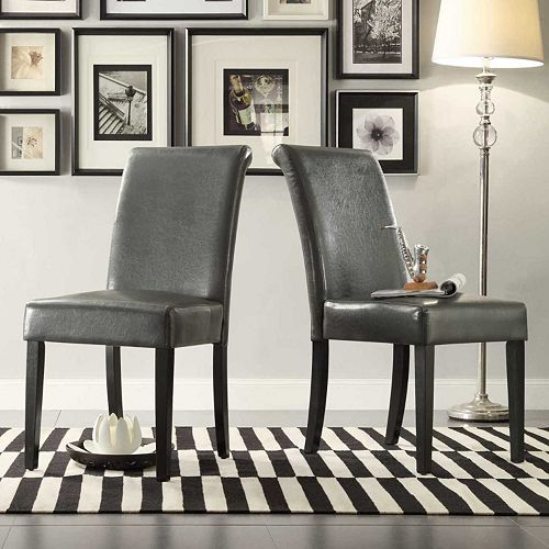 Homevance 2 Piece Jansen Parson Chair Set
