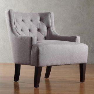 HomeVance Kingston Tufted Barrel Wingback Chair