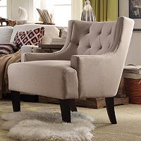 HomeVance Kingston Tufted Barrel Wingback Chair