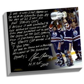 "Steiner Sports Edmonton Oilers Glenn Anderson Oilers Dynasty Facsimile 22"" x 26"" Stretched Story Canvas"