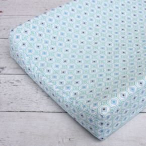 Caden Lane Blue Octagon Changing Pad Cover