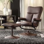 HomeVance Leland 2-piece Swivel Recliner & Ottoman Set