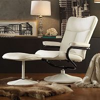 HomeVance Leland 2 pc Swivel Recliner & Ottoman Set