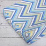 Caden Lane Blue Chevron Changing Pad Cover
