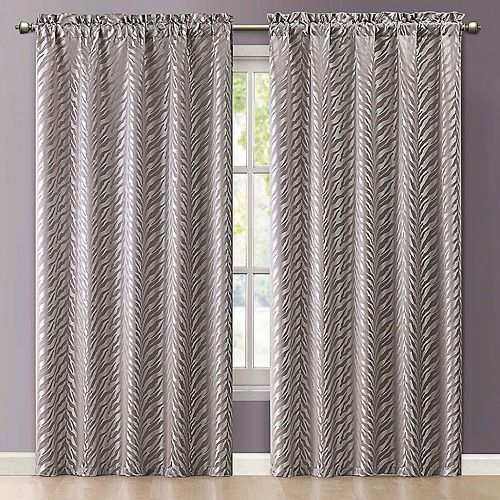 VCNY 1-Panel Kenya Jacquard Window Curtain - 55'' x 84''