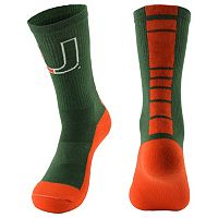 Youth Mojo Miami Hurricanes Champ 1/2-Cushion Performance Crew Socks