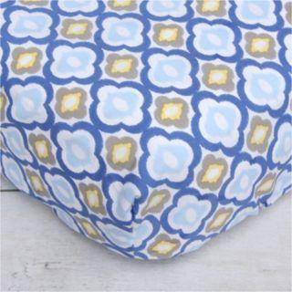 Caden Lane Blue Mod Crib Sheet