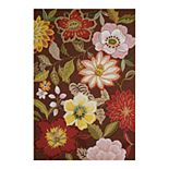 Nourison Fantasy Modern Borderless Floral Rug