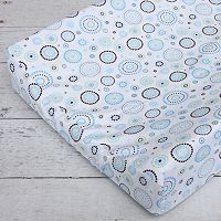 Caden Lane Blue Circle Dot Changing Pad Cover