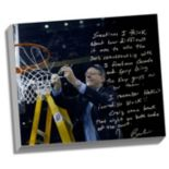 "Steiner Sports Syracuse Orange Jim Boeheim Cutting Down the Net Facsimile 22"" x 26"" Stretched Story Canvas"