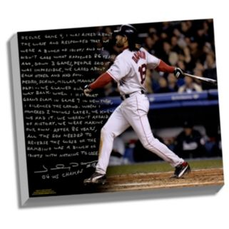 "Steiner Sports Boston Red Sox Johnny Damon Reverse the Curse Facsimile 22"" x 26"" Stretched Story Canvas"