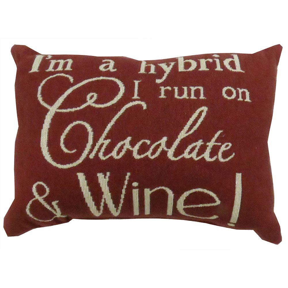 Park B Smith Chocolate Wine Throw Pillow