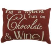 Park B. Smith ''Chocolate & Wine'' Throw Pillow