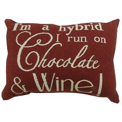 Park B. Smith ''Chocolate & Wine'' Throw Pillow