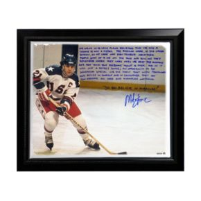 """Steiner Sports USA Hockey Mike Eruzione Miracle Facsimile 22"""" x 26"""" Stretched Story Canvas"""
