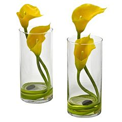 nearly natural 2-piece Double Calla Lily Flower Set