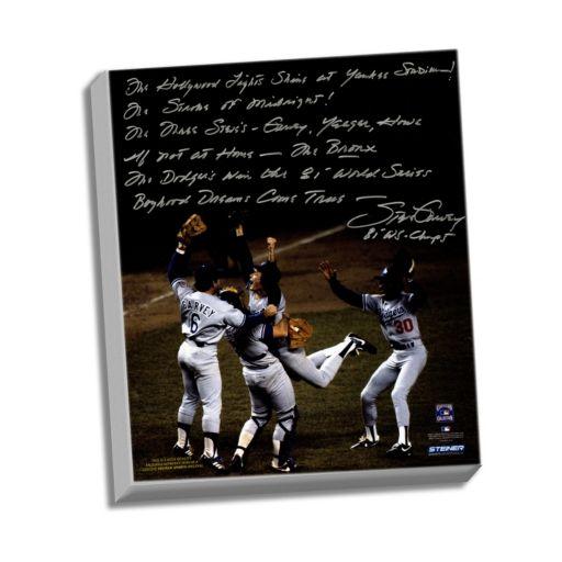 "Steiner Sports Los Angeles Dodgers Steve Garvey 1981 World Series Celebration Facsimile 22"" x 26"" Stretched Story Canvas"