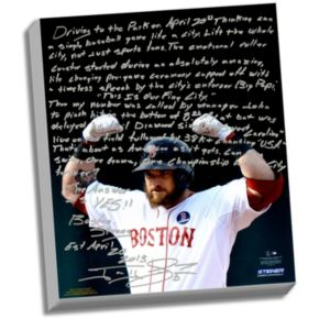 """Steiner Sports Boston Red Sox Jonny Gomes Boston Strong Facsimile 22"""" x 26"""" Stretched Story Canvas"""