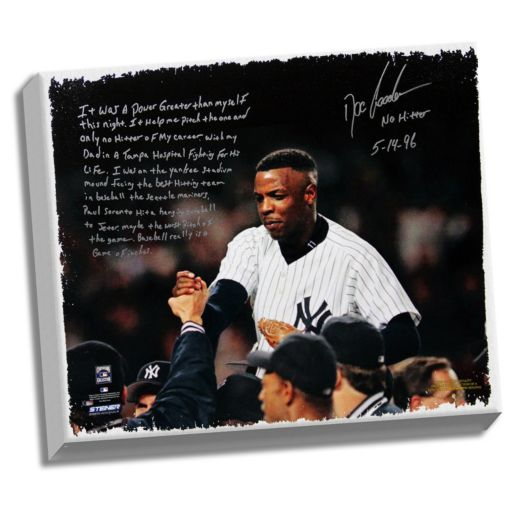 """Steiner Sports New York Yankees Doc Gooden No-Hitter Facsimile 22"""" x 26"""" Stretched Story Canvas"""