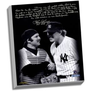 """Steiner Sports New York Yankees Goose Gossage on Thurman Munson Facsimile 22"""" x 26"""" Stretched Story Canvas"""