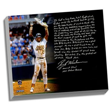 Steiner Sports Oakland Athletics Rickey Henderson Stolen Base Record Facsimile 22