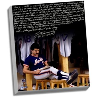 """Steiner Sports New York Mets Keith Hernandez 1986 Buckner Game Facsimile 22"""" x 26"""" Stretched Story Canvas"""