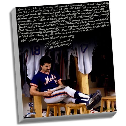 Steiner Sports New York Mets Keith Hernandez 1986 Buckner Game Facsimile 22 x 26 Stretched Story C...