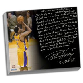 "Steiner Sports Los Angeles Lakers Robert Horry Big Shot Rob Facsimile 22"" x 26"" Stretched Story Canvas"