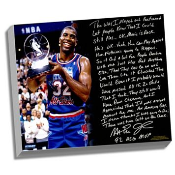 Steiner Sports Los Angeles Lakers Magic Johnson First Game Back Facsimile 22
