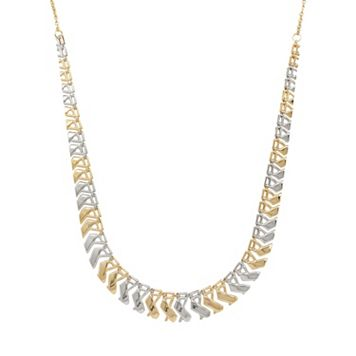 Everlasting Gold 10k Gold Two Tone Cleopatra Necklace
