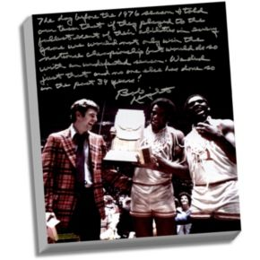 "Steiner Sports Indiana Hoosiers Bob Knight Undefeated Season Facsimile 22"" x 26"" Stretched Story Canvas"