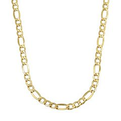 Everlasting Gold 14k Gold Figaro Chain Necklace - 22 in